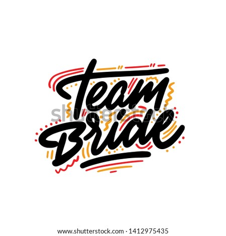 Team typography poster. Vector Typography Banner Design Concept