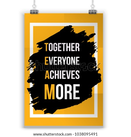 team typography poster vector