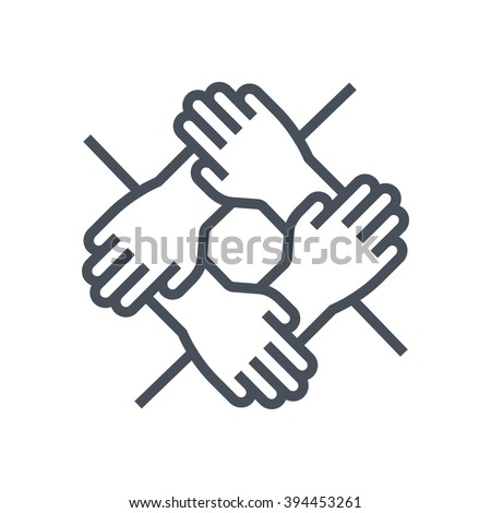 Team work icon suitable for info graphics, websites and print media and  interfaces. Line vector icon.