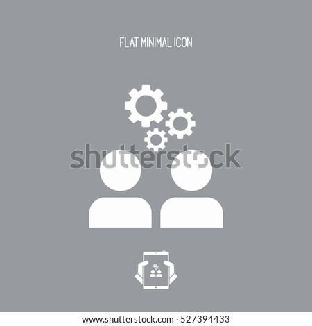 Teamwork brainstorming flat icon