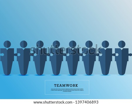 Teamwork. Business Teamwork and Partnership. Business teamwork concept vector symbol. Idea of cooperation and collaboration.