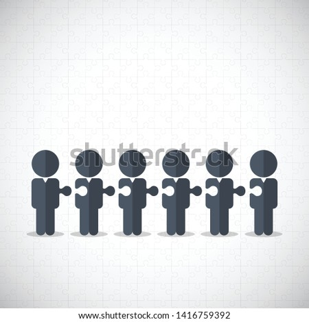 Teamwork. Business teamwork and partnership concept vector symbol. Idea of cooperation and collaboration.