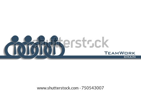 Teamwork concept / partner in chain, vector