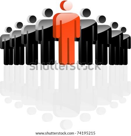 Teamwork concept. Vector illustration.