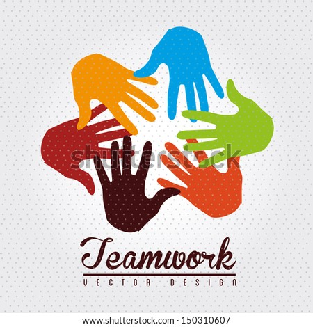teamwork design over dotted