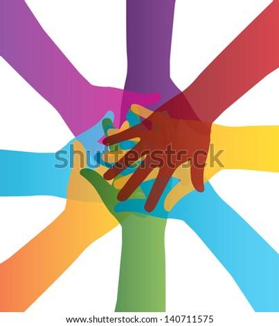 teamwork design over white background vector illustration