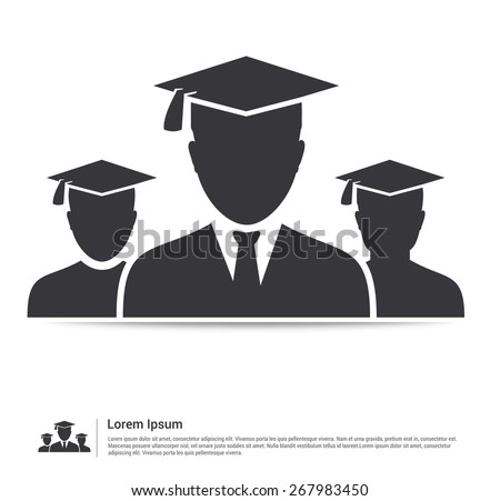 Teamwork graduates student education icon vector