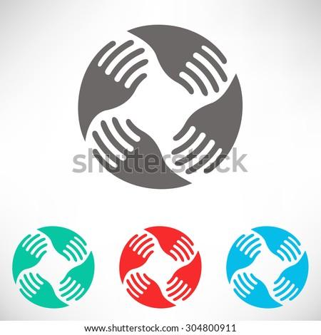 teamwork hands logo human