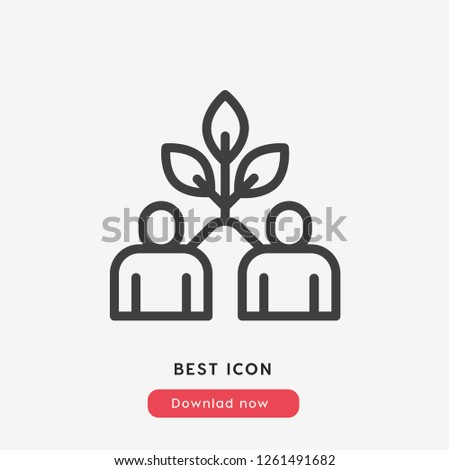 Teamwork  icon vector. Teamwork symbol. Teamwork icon vector. Team symbol. Linear style sign for mobile concept and web design. Teamwork symbol logo illustration. vector graphics - Vector.