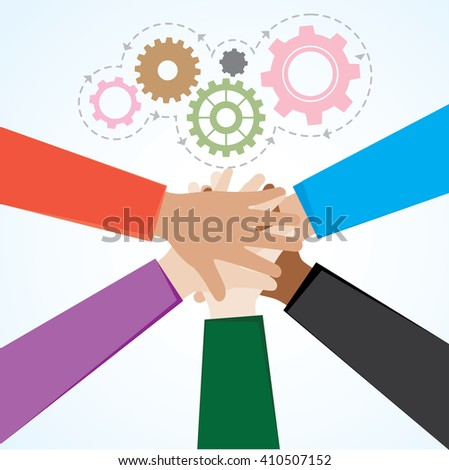 Teamwork Illustration Vector 10