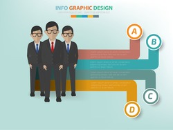 Teamwork info graphic design,label for text,vector