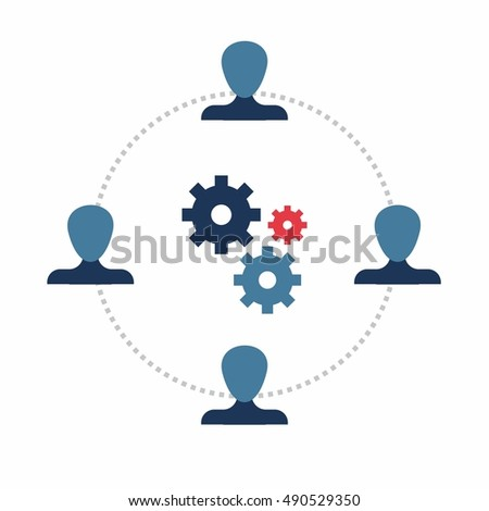 Teamwork. Infographics template