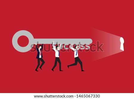 teamwork is a secret of successful business