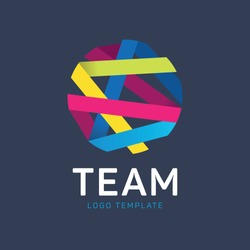 Teamwork logo. Community logo. Cooperation logo. Partnership logo