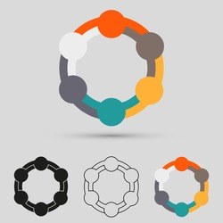 Teamwork logo, symbol group