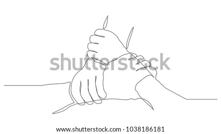Teamwork One line drawing