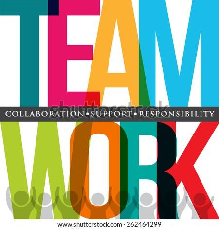 teamwork people logo typography
