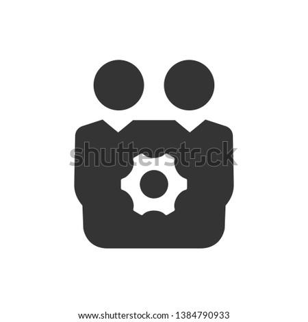 Teamwork planning, teamwork setting icon
