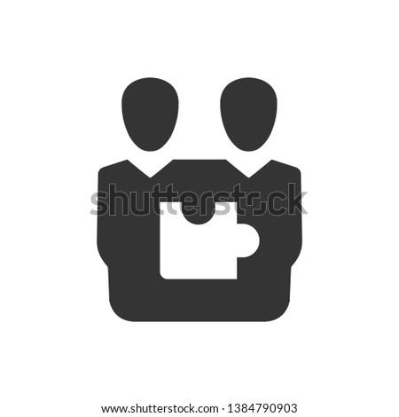 Teamwork solution, teamwork planning icon