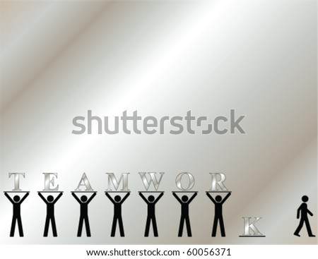 Teamwork themed graphic with copy space for own text