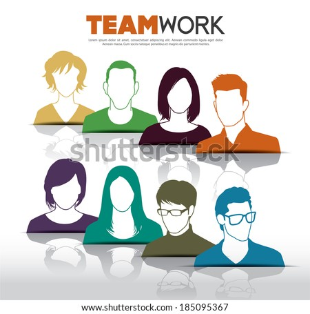 Teamwork with group of people