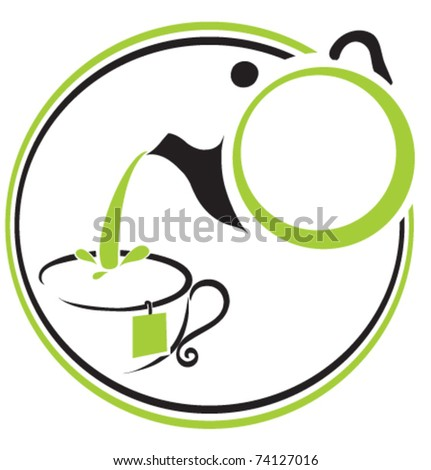 Teapot and cup icon