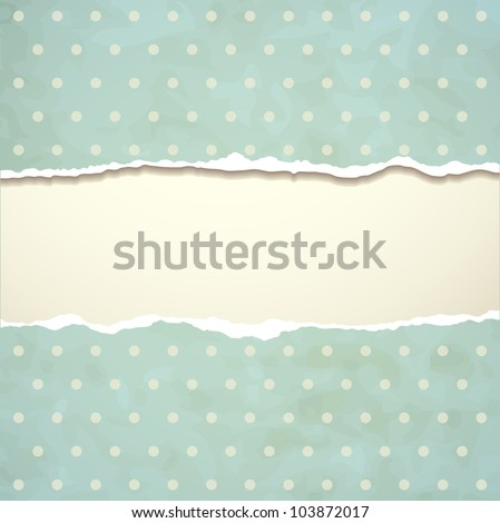 Tear paper on abstract  background