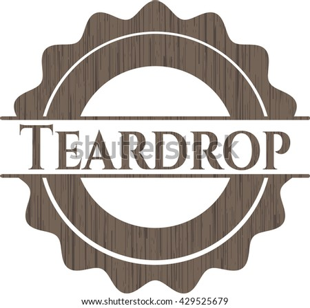 Teardrop wood signboards