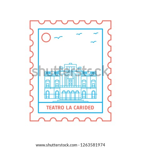 teatro la carided postage stamp