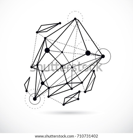tech abstract shape  vector