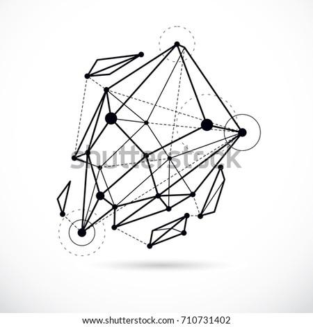 tech abstract shape  vector
