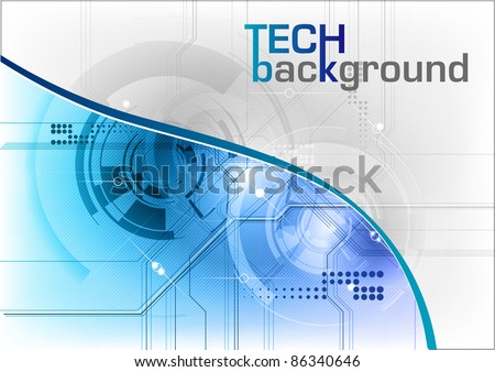 tech background in the blue