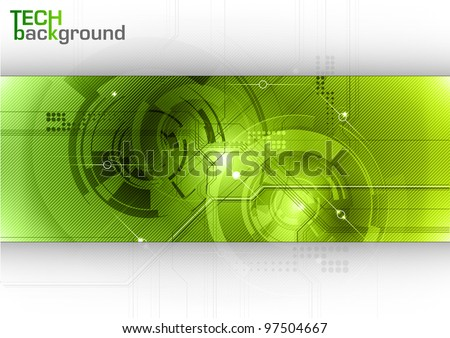 tech background with green