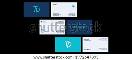 tech business card design template, simple clean template vector design, layout in rectangle size