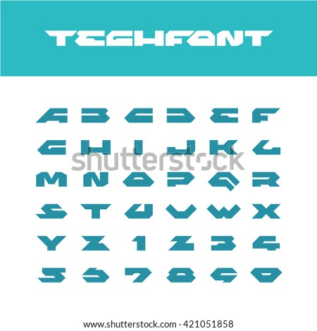 tech font wide bold poster