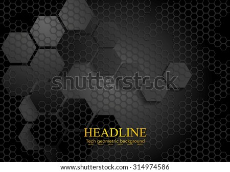 stock-vector-tech-geometric-black-background-with-hexagon-texture-vector-design-eps