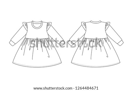technical drawing of a child s