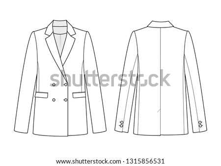technical drawing of jacket