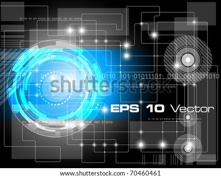 Technical futuristic background - vector illustration - stock vector