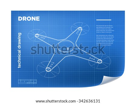 technical illustration with