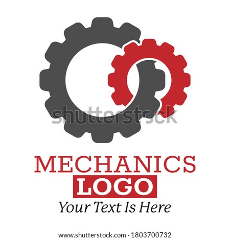 Technical logo. Color vector illustration for logo, sticker or label, modern design isolated on white background Foto d'archivio ©