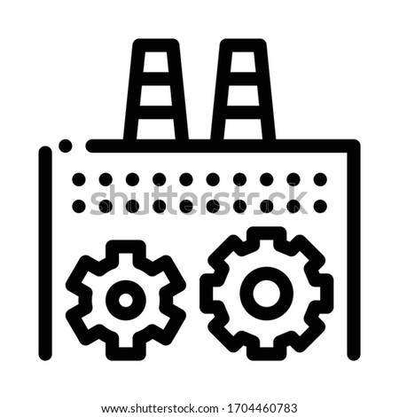 technical settings of thermal power plant icon vector. technical settings of thermal power plant sign. isolated contour symbol illustration