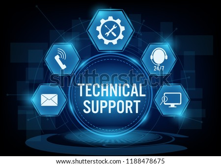 Technical support customer concept with line icon,Creative design for banner.Vector illustration
