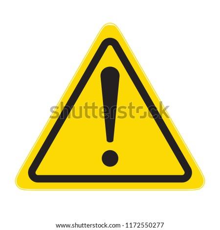 technical warning sign; hazard!