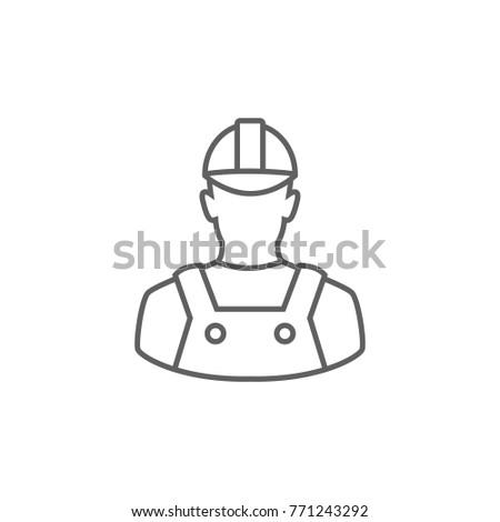 Technician line icon vector