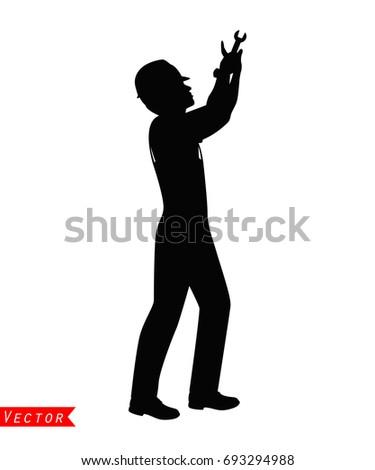 Technician silhouette vector