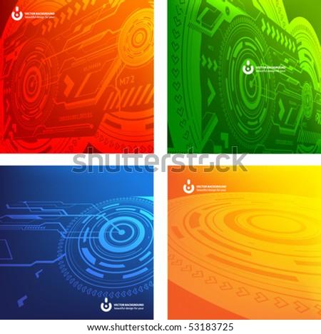 Techno background set
