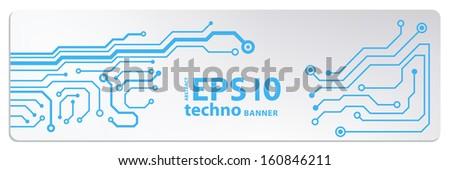 techno circuit web banners