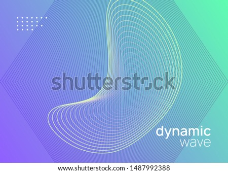 Techno event. Dynamic fluid shape and line. Creative show banner design. Neon techno event flyer. Electro dance music. Electronic sound. Trance fest poster. Club dj party.