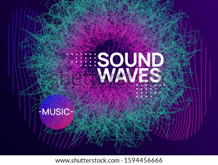Techno event. Dynamic fluid shape and line. Creative show invitation template. Neon techno event flyer. Electro dance music. Electronic sound. Trance fest poster. Club dj party.